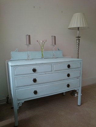 Ice Blue Vintage Filigree Chest of Drawers, £199