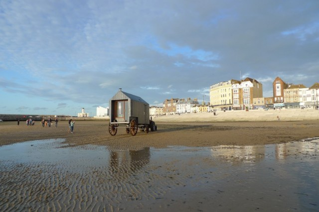 Victorian Sea Bathing Machine, Margate, Commissioned by Dom Bridges of Haeckels, designed by Chloe Young of Re-Works Studio and built by Moosejaw Woodworks, as shown on George Clark's Amazing Spaces