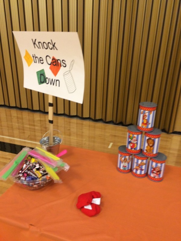 Knock the Cans Down game
