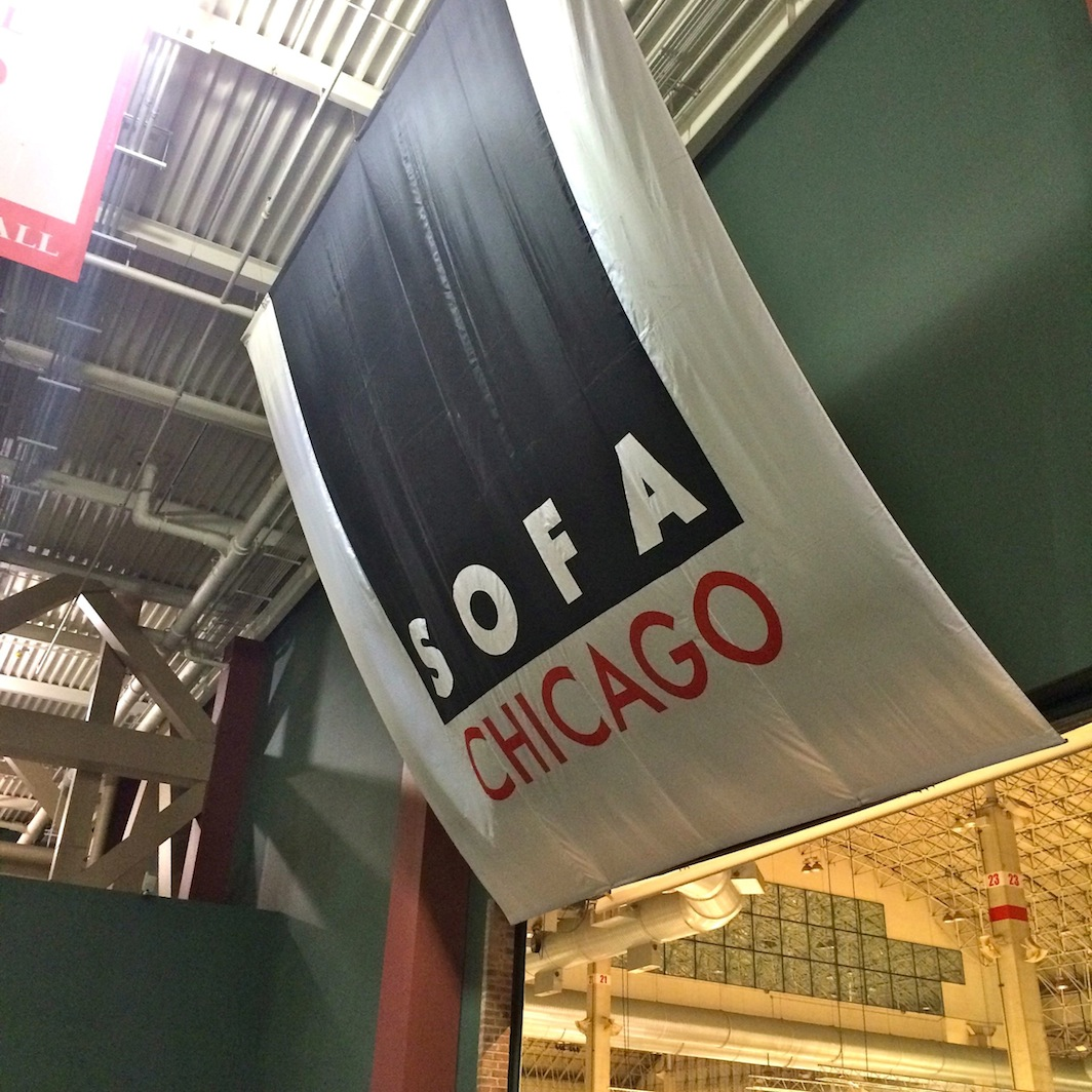 sofa chicago artists table 5 feet long art show shelley beatty