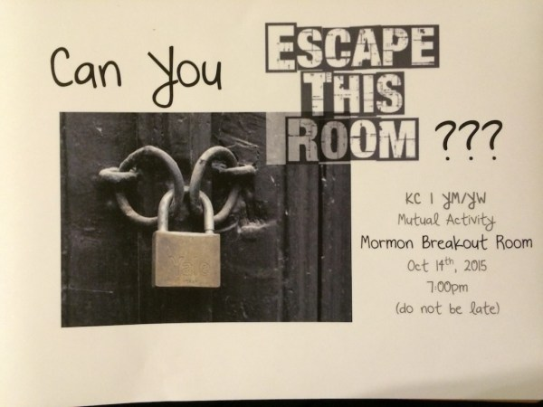 Flyer advertising Breakout Room for Mutual Activity