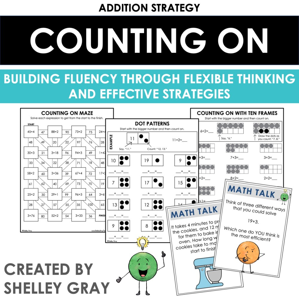 medium resolution of Counting On: An Addition Strategy - Shelley Gray