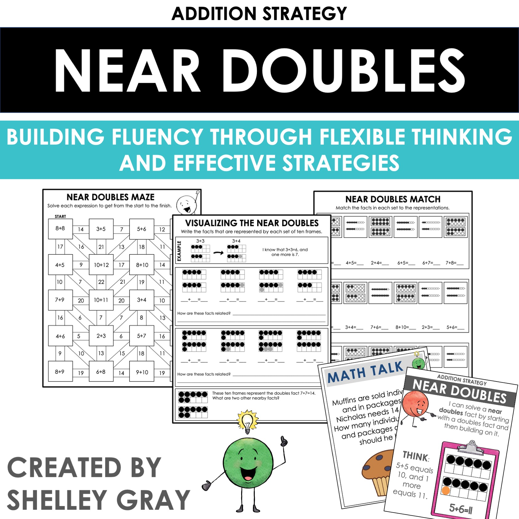 hight resolution of Extending The Doubles and Near Doubles Facts: An Addition Strategy -  Shelley Gray