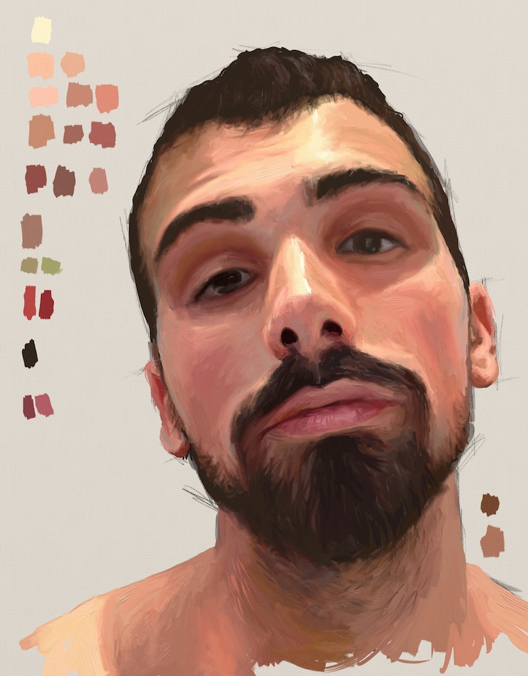 Day 12 portrait painting challenge