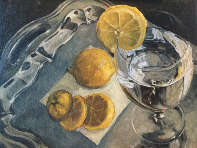 Lemon Water - tips for painting silver objects