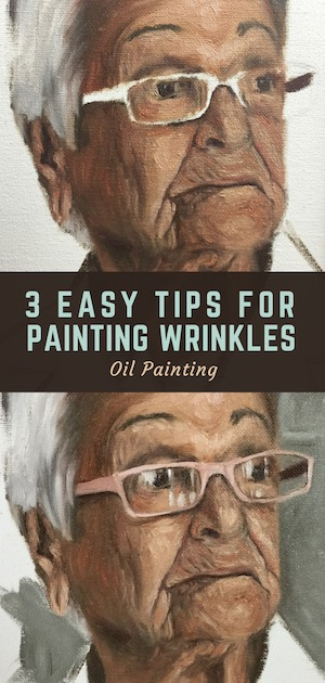 7 portrait painting tips wrinkles