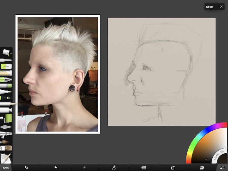 7 Portrait Painting Tips From The #30faces30days Challenge tip 1