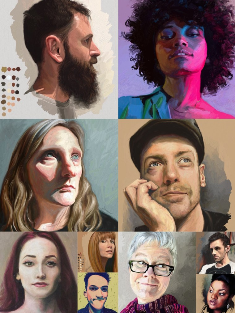 portrait challenge paintings - Final 10