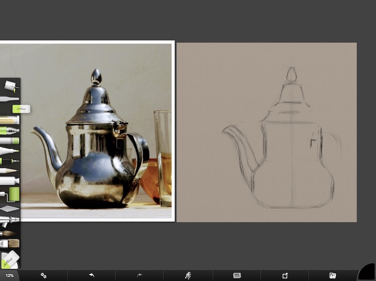 tips for painting silver objects digitally in ArtRage