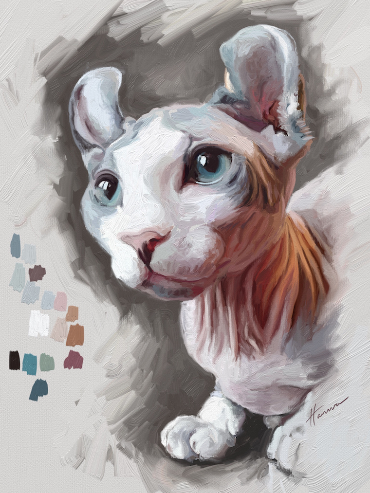 PM360 online art contest Rémy the Gargoyle digital painting on ArtRage