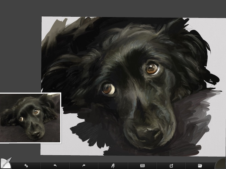 step 10 8 tips for painting black fur traditional and digital ArtRage step-by-step tutorial
