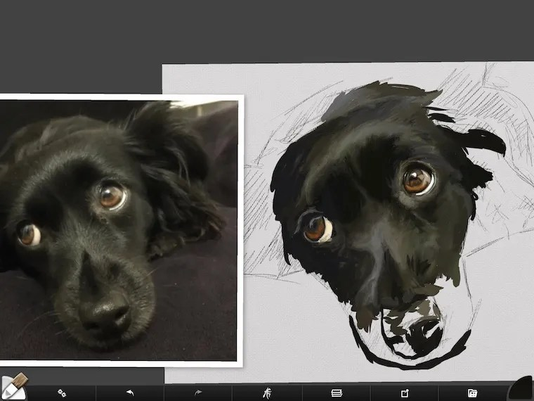 step 6 8 tips for painting black fur traditional and digital ArtRage step-by-step tutorial