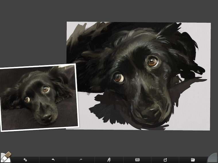 step 9 8 tips for painting black fur traditional and digital ArtRage step-by-step tutorial