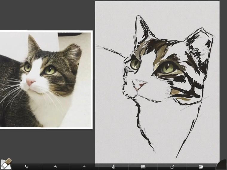 Cat digital painting tutorial step 3 mid tone values painting fur