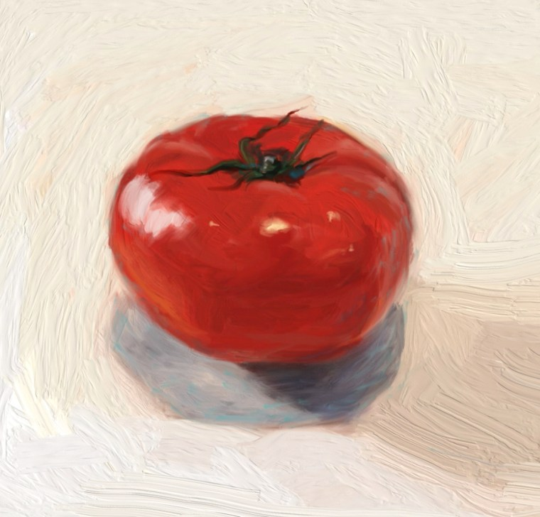 Final tomato painting
