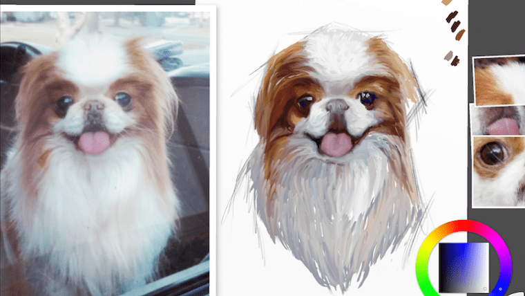 Step 6 painting japanese chin portrait