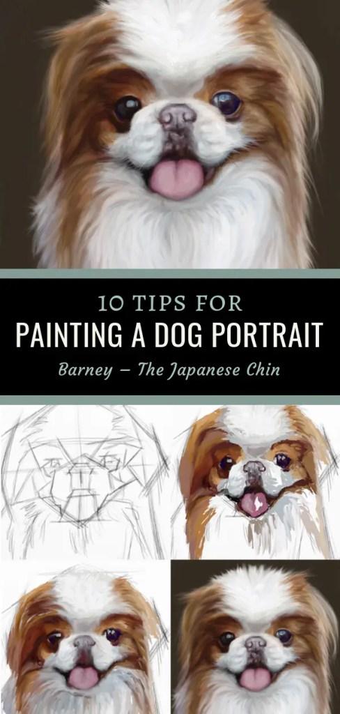 dog painting pin 4 up
