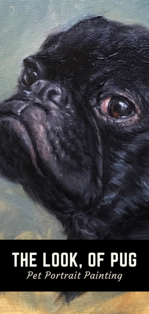 pug pin 3 pet portrait