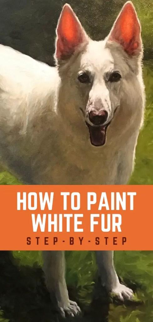 paint white fur pin 3