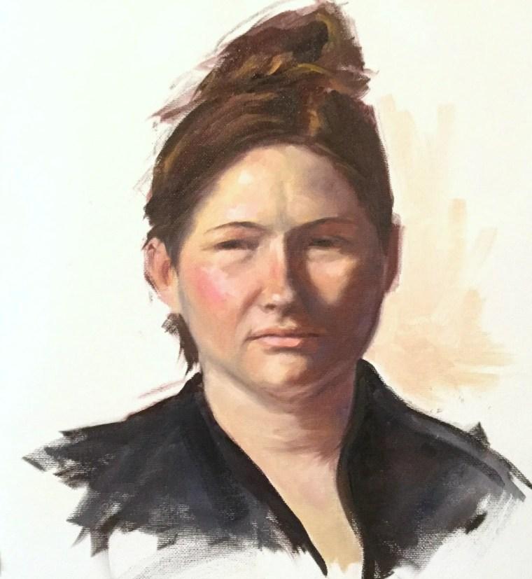 class portrait done alla prima by shelley hanna