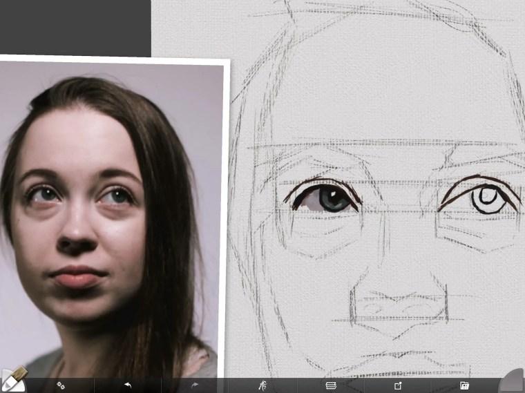 Starting white of the right eye