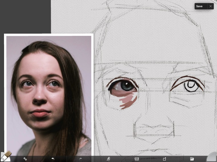 Skin tones under eye