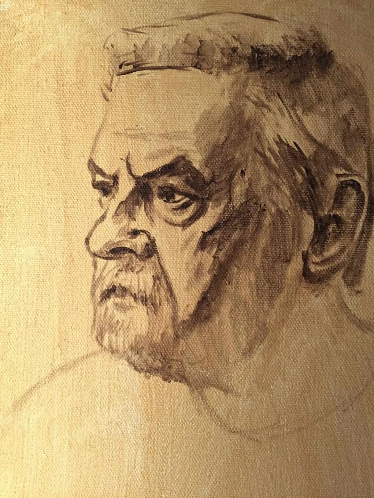 Painting wrinkles sketch