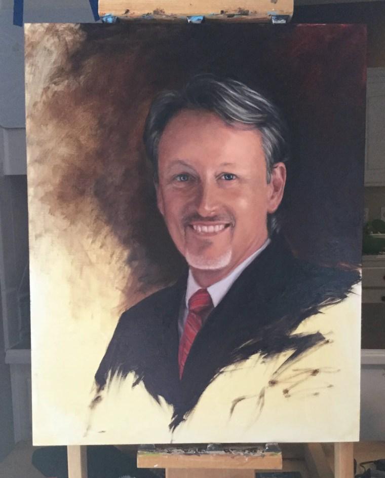 Realistic portrait painting 18