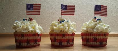 Watermelon Cupcakes with Whipped Cream Frosting