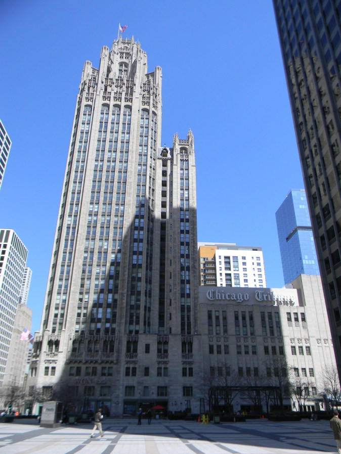 The Tribune Tower––Home of the Chicago Tribune