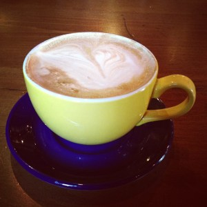 A latte from Kate's Cafe