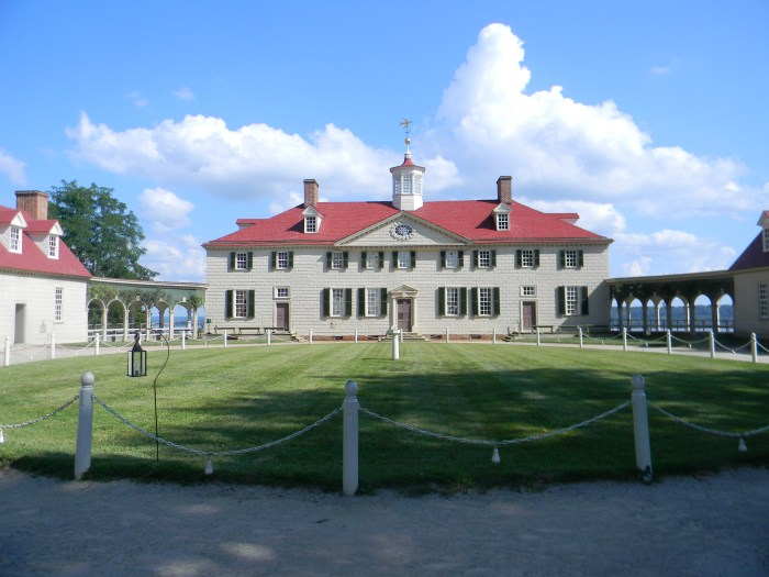 The west front of Mount Vernon (Picture by Shelley Kassian)