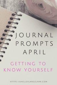 Journal Prompts Challenge April