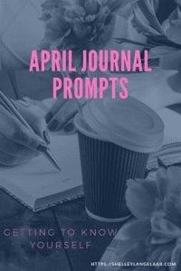 April journal prompts plan
