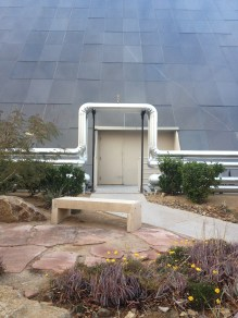 An interesting architectural detail for piping on the exterior of the Luxor Hotel