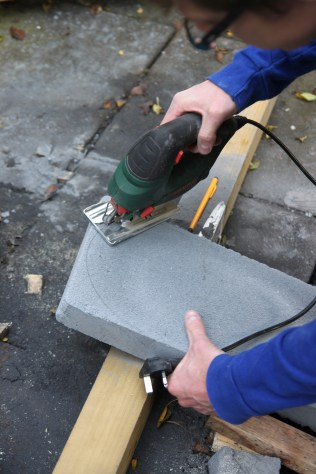 Shaping DIY Tombstone
