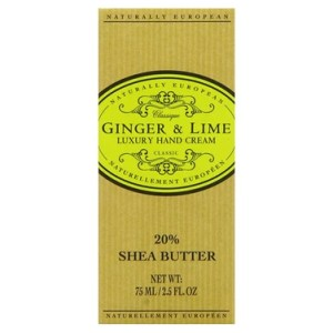 Naturally European Ginger & Lime Luxury Hand Cream