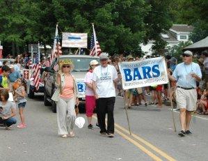 BARS on Parade at Barnstable July 4th Parade
