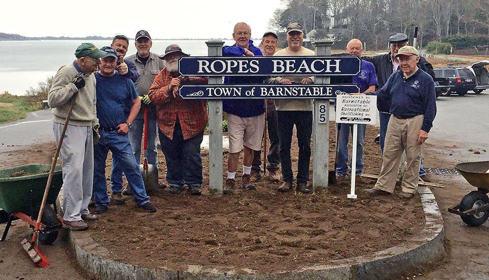 BARS Volunteers at Ropes Beach, Cotuit