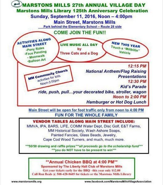 Marstons Mills 27th Annual Village Day 2016