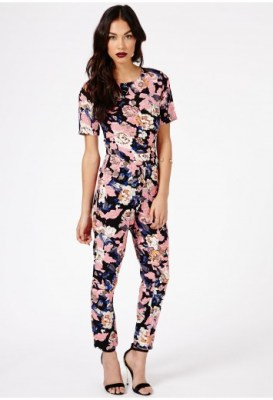 Missguided Floral Jumpsuit