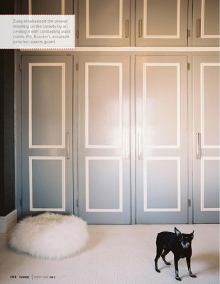 how to give boring wardrobe doors a new look with a coat of paint