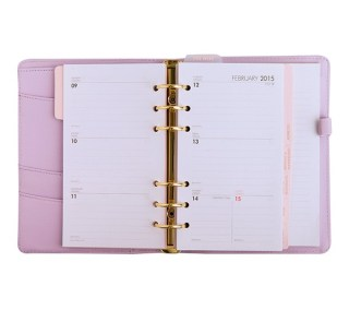 2015 LEATHER TIME PLANNER MEDIUM: LILAC