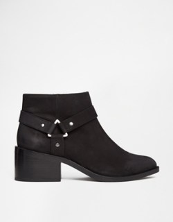 Image 2 of ASOS RAPID Leather Stirrup Weave Ankle Boots