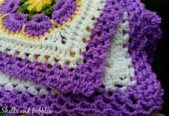 African Flower Square Baby Blanket 4
