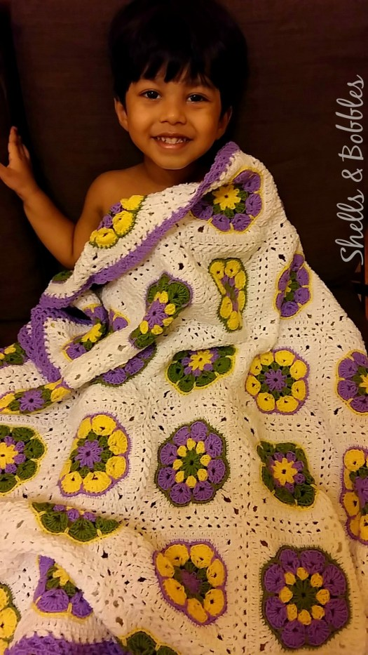 African Flower Square baby Blanket