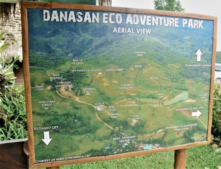 AERIAL VIEW OF DANASAN ECO ADVENTURE PARK