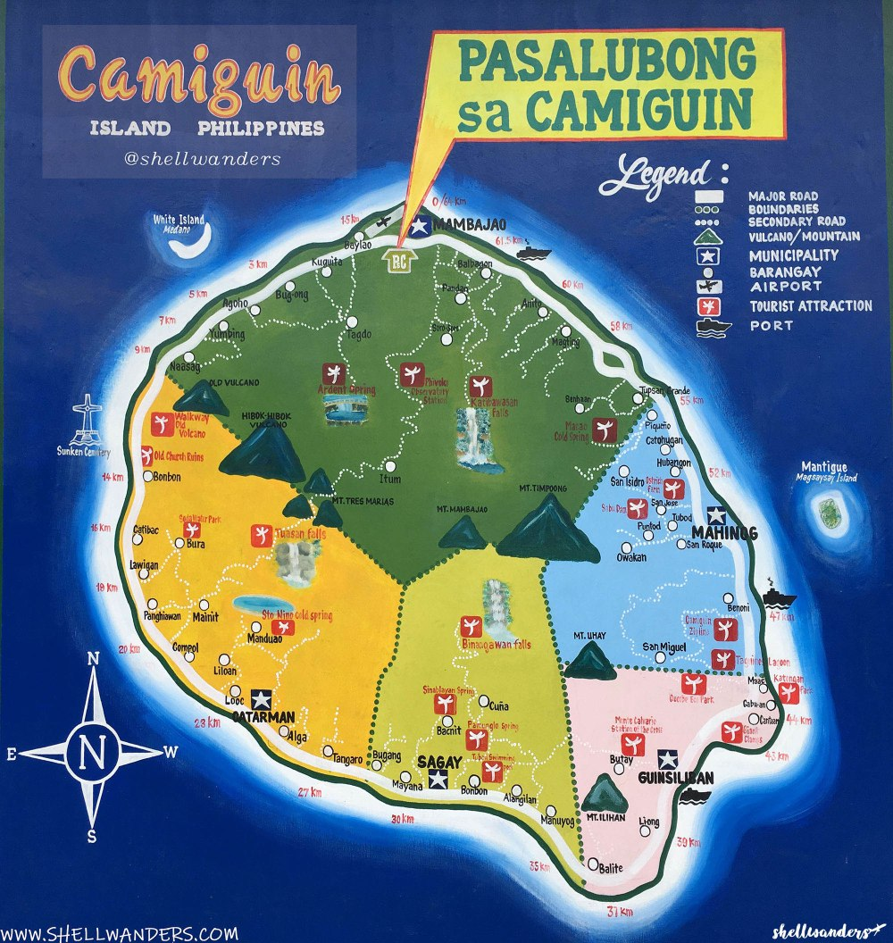 CAMIGUIN MAP by shellwanders