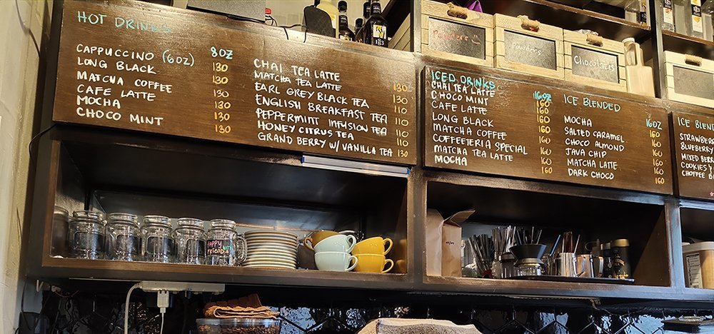 coffeeteria cebu menu