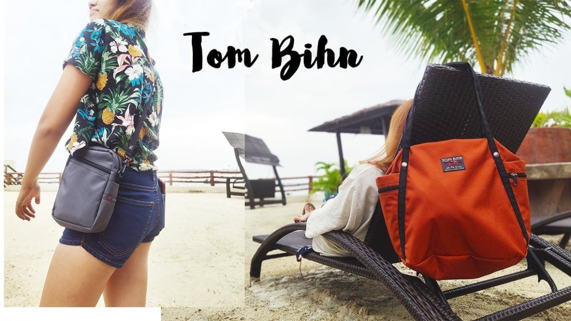 By the Beach with My Tom Bihn Pop Tote and Travel Cubelet